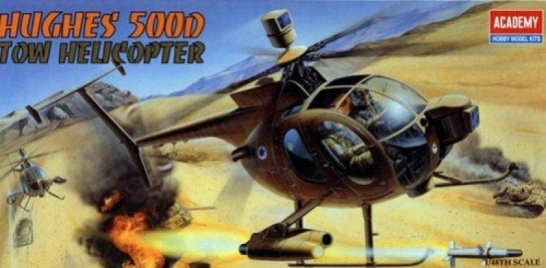 Academy Helikoptéra Hughes 500D TOW