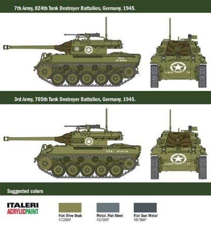 Italeri Plastikový model tanku M18 HELLCAT