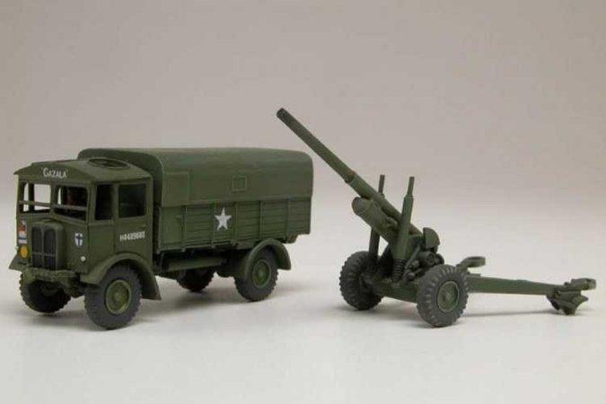 "Airfix Plastikový model vojenského děla AEC Matador & 5.5"" Gun"