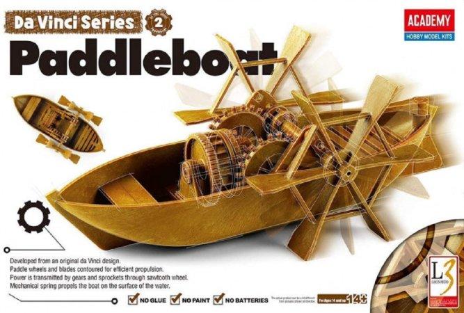 Academy Plastikový model Da Vinci - Šlapadlo (Paddleboat)