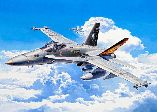 Revell Plastikový model letadla F/A-18C Hornet