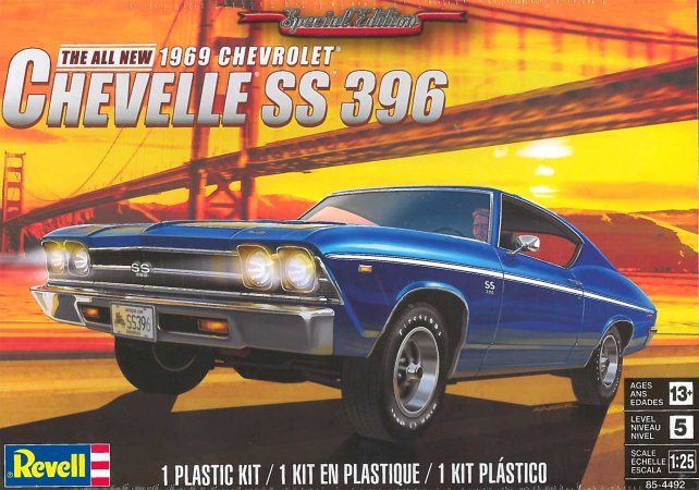 Revell Plastikový model auta '69 Chevelle SS 396