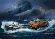 Revell Plastikový model lodě Northsea Fishing Trawler