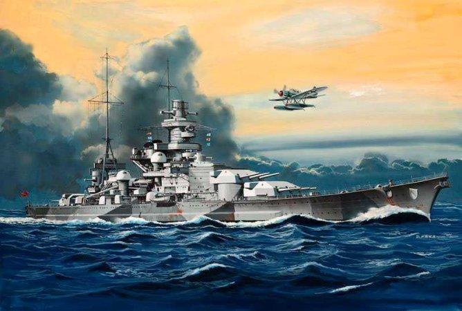 Revell Plastikový model lodě Battleship Scharnhorst