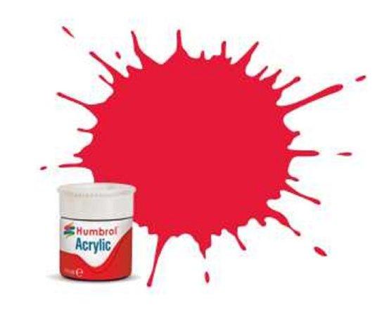 Humbrol Barva akrylová lesklá - Červená (Arrow Red) - č. 238