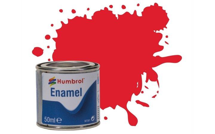 Humbrol Barva emailová lesklá - Jasně červená (Bright Red) - č. 19 - 50 ml