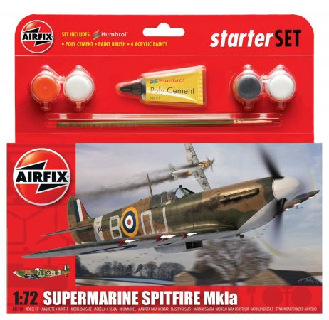 Airfix Starter Set letadlo - Supermarine Spitfire MK1a