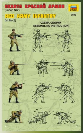 Zvezda Model Kit figurky - Red Army Infantry 2 - Výprodej