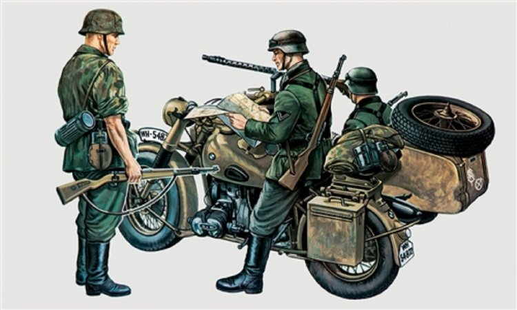 Italeri Model Kit military 0315 - BMW R75 with Sidecar