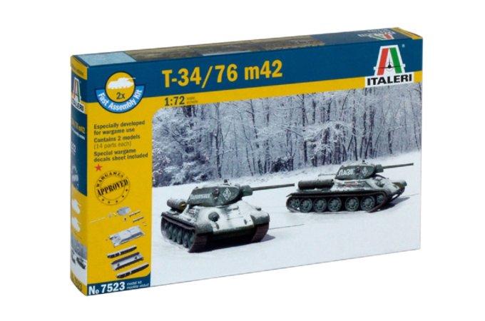 Italeri Fast Assembly tanky 7523 - T 34 / 76 m42