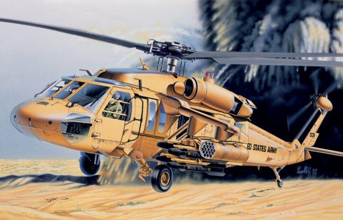 Italeri Model Set vrtulník 71025 - UH 60 Desert Hawk