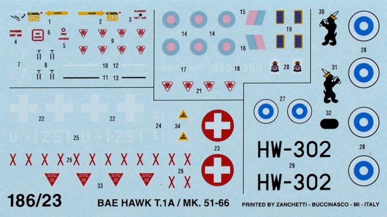 Italeri Model Set letadlo 71186 - HAWK Mk.1