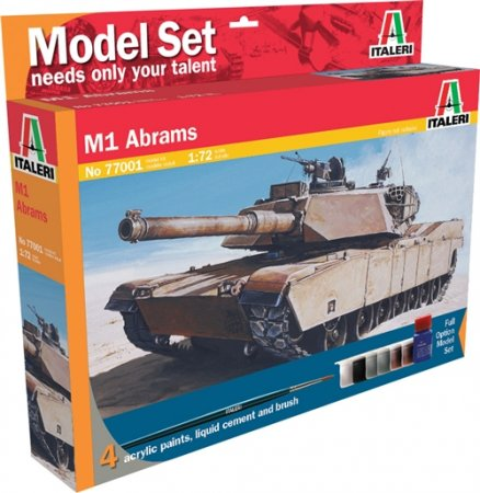 Italeri Model Set tank 77001 - M1 Abrams