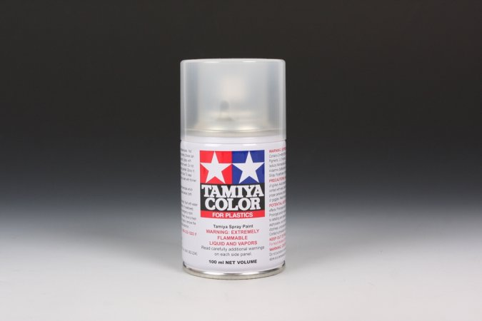 Tamiya Barva ve spreji polomatná - Polomatný lak čirý (Semi Gloss Clear) TS-79