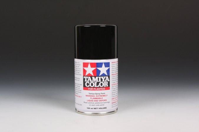 Tamiya Barva ve spreji polomatná - Černá (Semi Gloss Black) TS-29