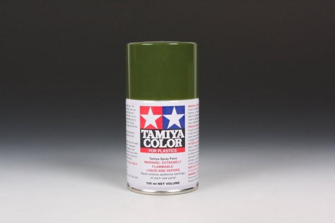 Tamiya Barva ve spreji polomatná - Olivová 2 (Olive Drab 2) TS-28