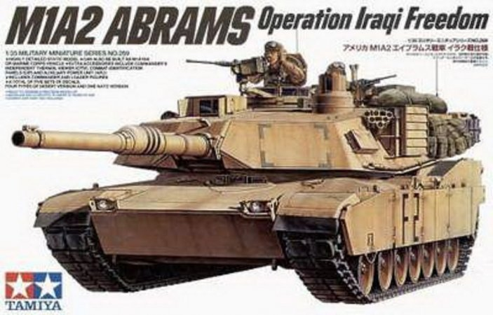 Tamiya M1A2 Abrams Main Battle Tank - 120 mm Gun