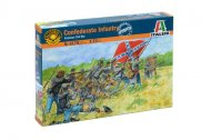 Italeri Model Kit figurky 6178 - CONFEDERATE INFANTRY (AMERICAN CIVIL WAR)