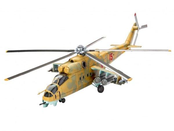 Revell ModelSet - Plastikový model vrtulníku Mil Mi-24D Hind