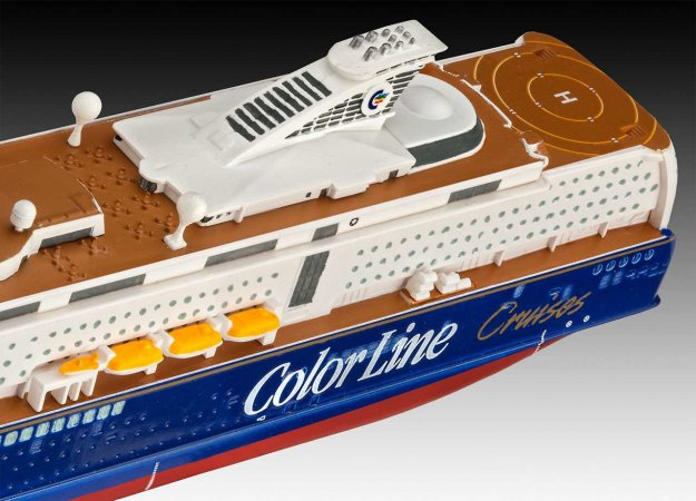 Revell ModelSet - Plastikový model lodě M/S Color Magic