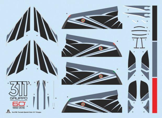 Italeri Model Kit letadlo 2766 - Tornado IDS 311° GV RSV - 60th Anniversary