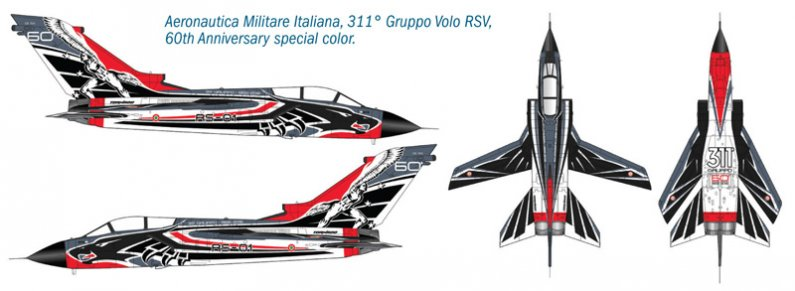 Italeri Model Kit letadlo 2766 - Tornado IDS 311° GV RSV - 60th Anniversary