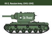 Italeri Model Kit tank 15763 - KV-1/KV-2 (tank driver INCLUDED)