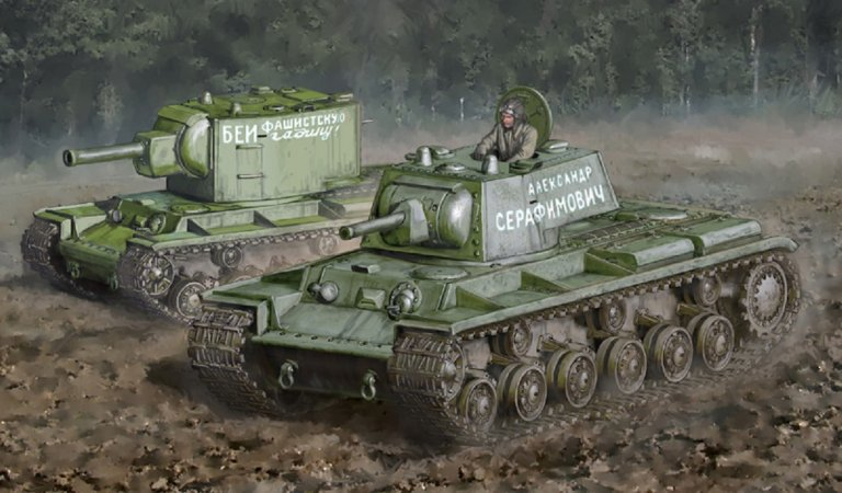 Italeri Model Kit tank 15763 - KV-1/KV-2 (tank driver INCLUDED)