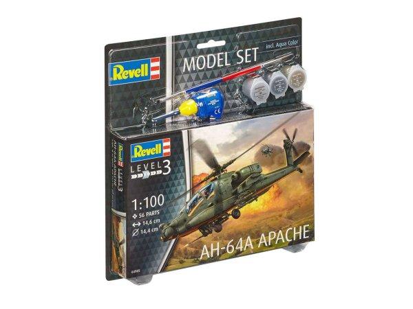 Revell ModelSet - Plastikový model vrtulníku AH-64A Apache