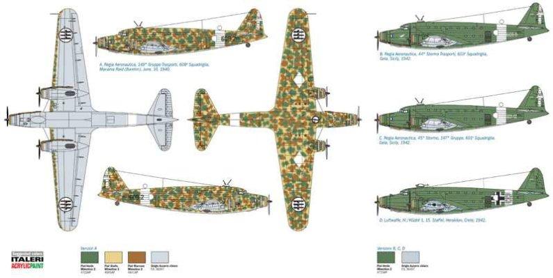Italeri Model Kit letadlo 1389 - SM.82 MARSUPIALE