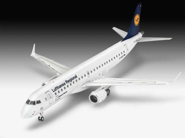 "Revell Plastikový model letadla Embraer 190 ""Lufthansa"""