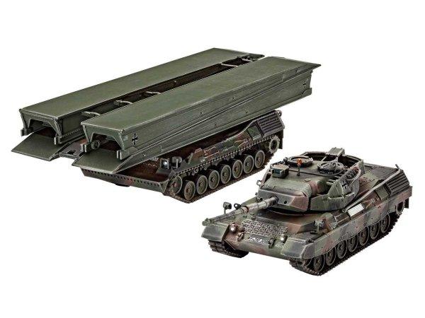"Revell Plastic ModelKit tank - Leopard 1A5 & Bridgelayer ""Biber"""