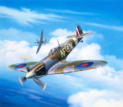 Revell ModelSet - Plastikový model letadla Spitfire Mk. IIa
