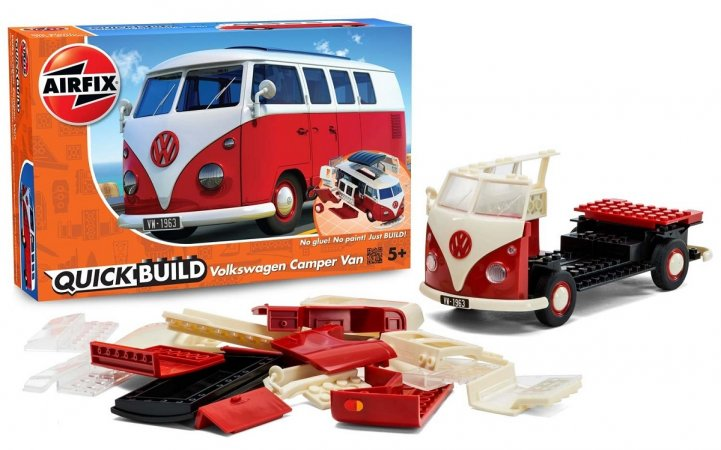 Airfix Quick Build - Plastikový model auta VW Camper Van