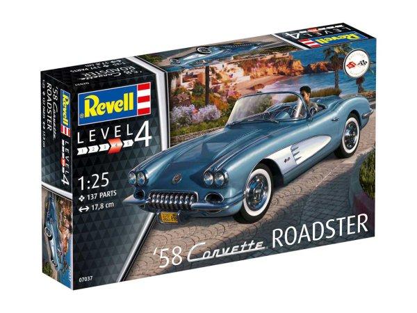 Revell Plastikový model auta '58 Corvette Roadster