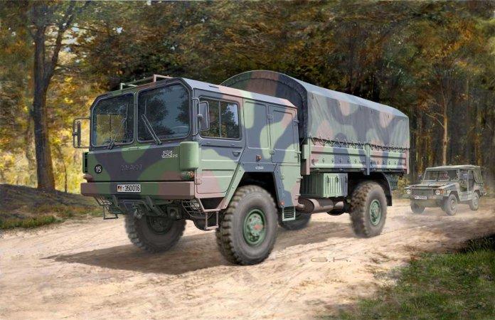 Revell Plastikový model vojenského nákladního vozidla LKW 5t.mil gl (4x4 Truck)