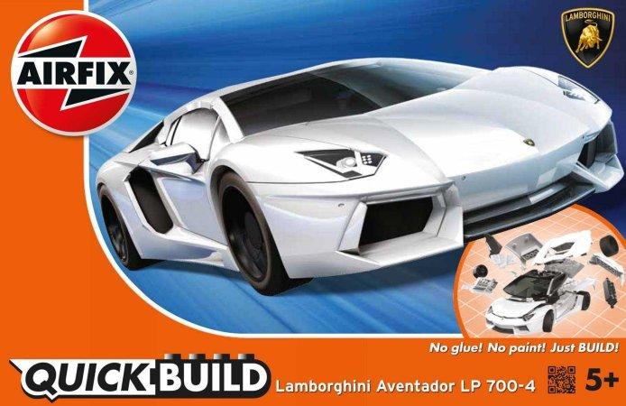 Airfix Quick Build - Plastikový model auta Lamborghini Aventador