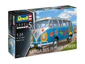 """Revell Plastikový model autobusu VW T1 Samba Bus """"Flower Power"""""""