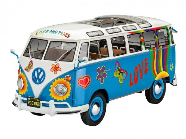 "Revell Plastikový model autobusu VW T1 Samba Bus ""Flower Power"""