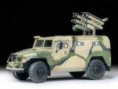 "Zvezda ModelKit military - GAZ with AT missile system ""Kornet D"""