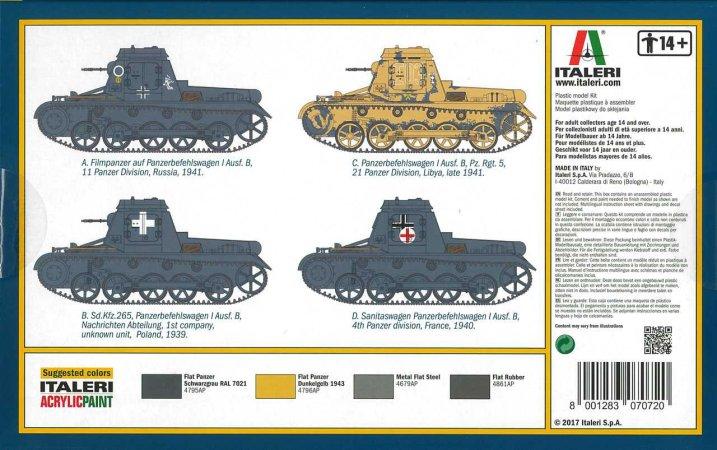 Italeri Model Kit military 7072 - Sd. Kfz. 265 Panzerbefehlswagen