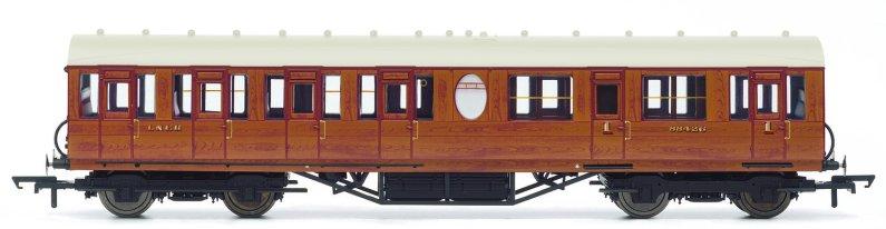 Hornby Vagón osobní - LNER Thompson Non-corridor (Lavatory) Composite Coach, Teak