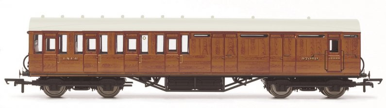 Hornby Vagón osobní - LNER Thompson Non-corridor 3rd Class Brake Coach, Teak