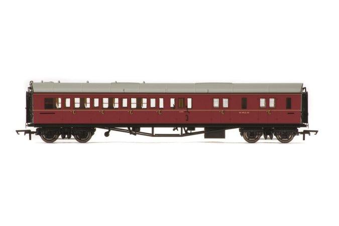 Hornby Vagón osobní - BR Collett Coach Corridor Brake Third Class RH, Maroon
