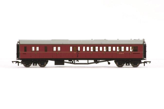 Hornby Vagón osobní - BR Collett Coach Corridor Brake Third Class LH, Maroon