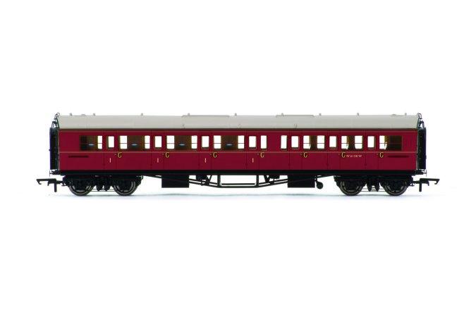 Hornby Vagón osobní - BR Collett Coach Corridor Composite LH, Maroon