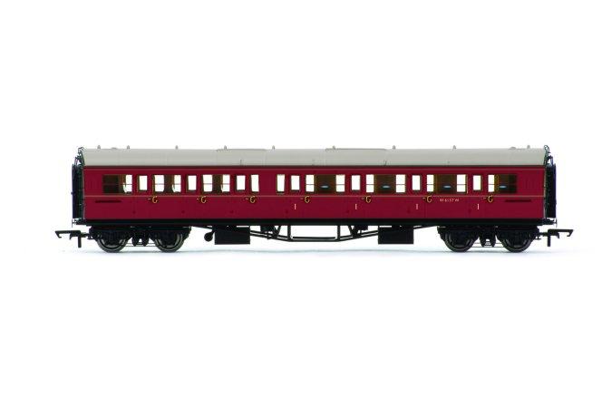 Hornby Vagón osobní - BR Collett Coach Corridor Composite RH, Maroon