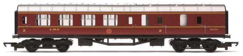 Hornby RailRoad - Vagón osobní - LMS Brake Coach - LMS Maroon