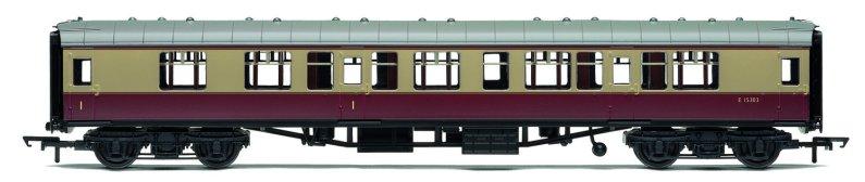 Hornby RailRoad - Vagón osobní - BR Mk1 Corridor Composite Coach - BR Crimson & Cream