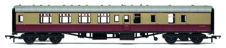 Hornby RailRoad - Vagón osobní - BR Mk1 Corridor Brake Second Coach - BR Crimson & Cream